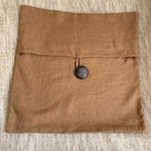 Pottery Barn Pillow Sham Tan 18x18